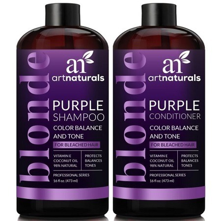 ArtNaturals Purple Shampoo And Conditioner